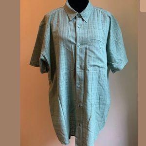 Men's Patagonia Button-front Green SS Shirt XL